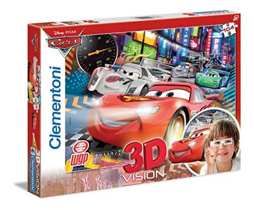 Clementoni Pixar^Disney Puzzle 3D y Gafas, Cars 20044