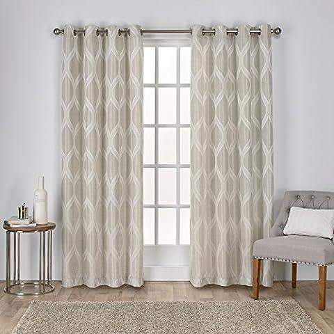 Exclusive Home Curtains Montrose Jacquard Grommet Top Window Curtain Panel