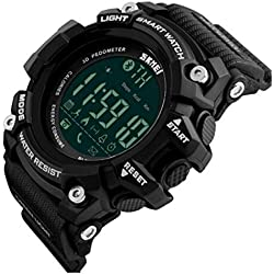 ETOWS® Men Digital Wristwatches Smart Watch Big Dial Fashion Outdoor Sport Watches LED Watches Black