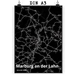 Mr. & Mrs. Panda Poster DIN A3 Stadt Marburg an der Lahn