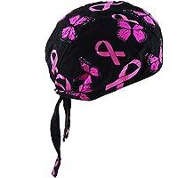 Ocobudbxw Unisex Motorcycle Biker Skull Cap Beanie Hip Hop Dance Butterfly Print Bandana Hat Helmet Liner Head Wrap…