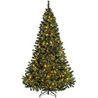 WeRChristmas Pre-Lit Vancouver Fir Multi-Function Christmas Tree with 200 Warm White LED Lights, Green, 6 feet/1.8 m