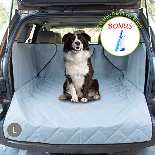 upra Kofferraumwanne für Hunde, gesteppt, wasserdicht, Oxford-Haustier-Autositzbezug, maschinenwaschbar und Rutschfeste Rückseite mit Klappenschutz, universell passend für alle Autos, Vehic (Gesteppte Autositzbezüge Für Hunde)