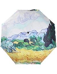 katoot @ de de pintura al óleo de Van Gogh campo de trigo con cipreses paraguas