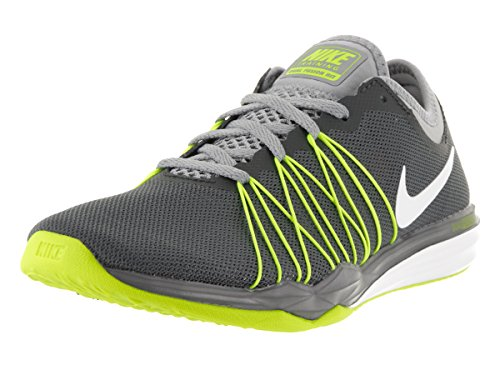 Nike Damen W Dual Fusion Tr Hit Prnt Wanderschuhe black/court green/white