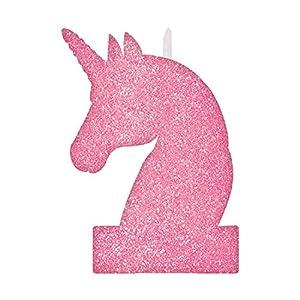 Amscan International-171929candle-noveltycndle Bday gltrr Magic Unicorn