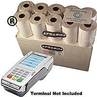 EPOSBITS® - Rollos grandes de tamaño completo para terminales de tarjetas de crédito Verifone VX-680 VX680 VX 680, 20 rollos, 1 caja (chip y pin)