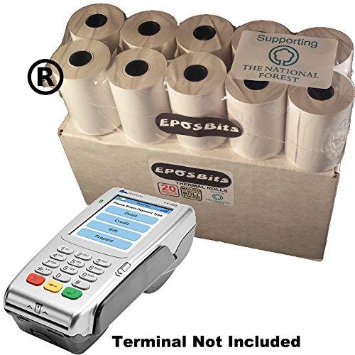 EPOSBITS® Große Rollen für Verifone VX-680 VX680 VX 680 Kreditkarten-Terminal, 20 Rollen - 1 Box (Chip & Pin) Vx-terminal