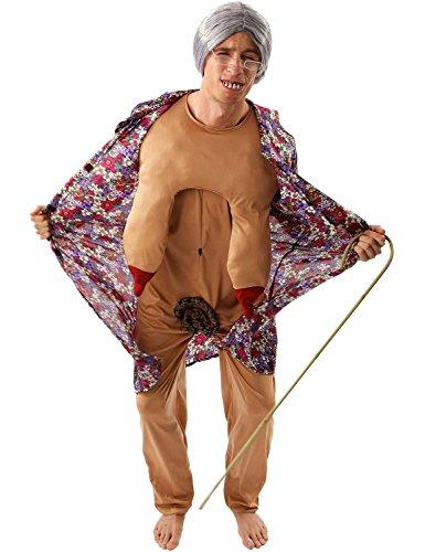 Erwachsene Exhibitionisten Oma Karneval Fasching Kostüm Verkleidung