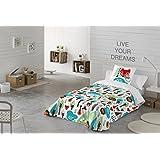 COTTON ART- Funda Nórdica Infantil SKOUT II Cama de 90 (150X260cm)+ 1 FUNDA DE ALMOHADA (45X110cm). MICROFIBRA Disponible para cama de 90 y 105.