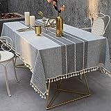 Amcerd Tischdecke, Hochwertig gefertigtes pflegeleicht Farbe Größe wählbar Ideal für Party, Catering, Vereinsfeier, Geburtstag - Blau 105x275cm