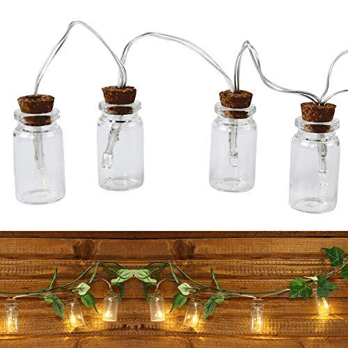 Roomando Lichterkette Flaschenpost Hochzeitsgeschenk Geldgeschenk DIY mit 10 LED als (Flaschenpost 10 LED)