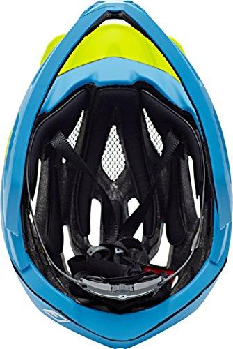 Cratoni Fahrradhelm C-Maniac, Blue/Lime Matt, 58-61 cm, 112406B3 - 7
