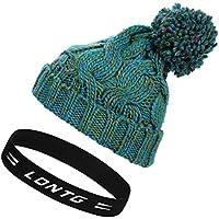 fef5eca9960 Unisex Winter Thermal Knitted Beanie Hat Pom Pom Bobble Hat Warm Slouch  Crochet Hats Thicken Ear