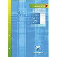 Clairefontaine 17499C - Pack de 50 Hojas Simples A4 para Discapacitados Visuales rayado francés (Séyès 2,5 - Ampliado 10x10) de 100 páginas