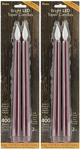 ng 27,9cm Kerzen Burgund (Set von 4) ()