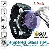 2.5D gehärtetes Glas Displayschutzfolie, Display Schutz Folie Tablet, Full Cover Film, Explosionsgeschützte, für Samsung Galaxy Watch, 42mm, 3 Pack, 6 Pack (3 Stück)