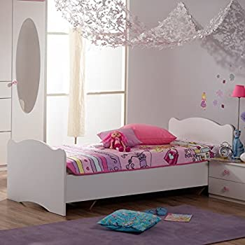 jugendbett sternchen 90 200 cm lila wei kinderbett jugendliege bettliege bett holz bettgestell. Black Bedroom Furniture Sets. Home Design Ideas