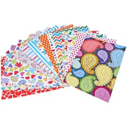 Craft Explore Craft Paper A4 Size (15 Different Assorted Designs)