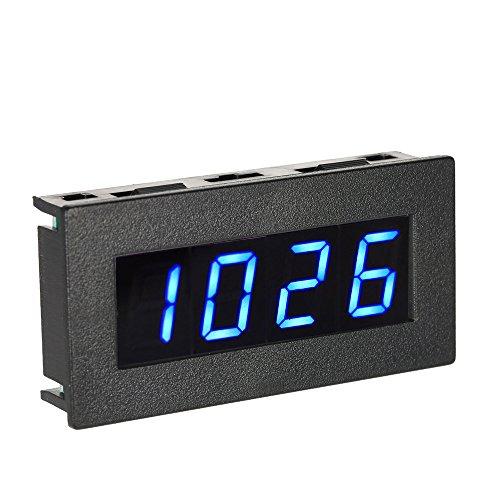 """KKmoon Hohe Präzision 0.56 """"4 LED Digital Frequenz Tachometer Auto Bewegungs Geschwindigkeits Messinstrument RPM Maß Prüfvorrichtung 5-9999R / M DC 8-15V(Blau)"""