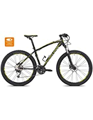 "Torpado bicicleta MTB neptune 27,5"" alu 3 x 10 V disco 49 negro talla amarillo (MTB amortizados)/bicycle MTB neptune 27,5"" alu 3 x 10 s disc size 49 yellow (black MTB Front suspension)"