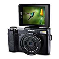 Amkov Digital Camera 24 Megapixel 1080P HD Shooting 4x Digital Zoom Beauty Self-timer Camera Portable Shooting Camera