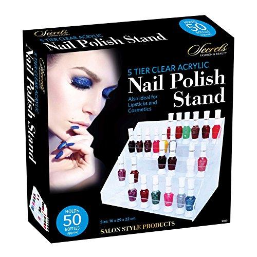 Salon Style support de vernis à ongles en acrylique Transparent Rouge à lèvres Cosmétique Vernis moderne support de présentation Mode Beauté