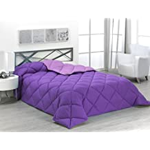 Sabanalia ENBI400-135L/M - Edredón nórdico de 400 g, para cama de 135 cm, color lila y morado