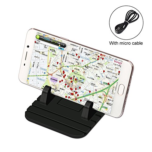 Schitec universale phone stents, pad, tappetino antiscivolo in silicone e supporto auto car holder supporto con cavo di ricarica dock per telefono samsung s7/s6/s5/iphone 5/5s/6/6s plus/7/7plus e gps