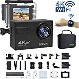 ODRVM Action Camera 4K, Wifi Underwater Camera Digital Waterproof Sports Camera With 2. 4G Remote Control And 2. 0Inch LCD For Car, Motorcycle, Bicycle, Helmet, Skiing, Kids, Diving, Swimming And Water Sports