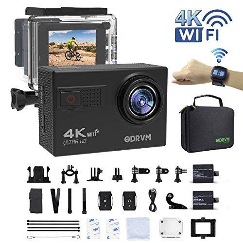 Actioncam 4K WIFI Action cam 1080P/60fps 20MP, 2.4 G Fernbedienung, 2 verbesserte Akkus, Unterwasserkamera für Kinder, Kopf, Motorrad, kids, Extremsport, Wassersport, Schwimmen, Fahrrad, Surfen, Tauchen und andere Outdoor-Sportaktivitäten