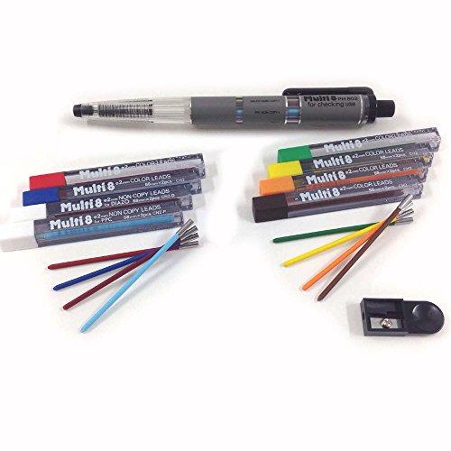 Pentel Pencil Lead Holder and Lead Set, Multi 8 Set (PH802ST) by Pentel
