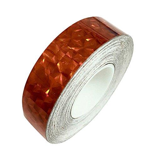 Display08mit Glitter Sparkle Holographisches Brille mit Klebeband, mit Verpackung, 1,2cm x 20m rot