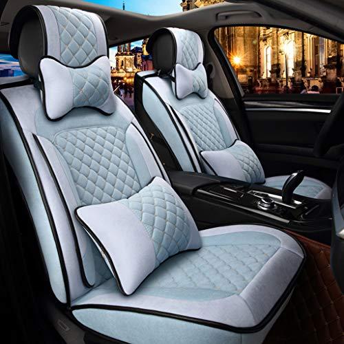 Preisvergleich Produktbild ZHUIL-Car seat cover Autositzbezug Atmungsaktiver Leinen-Airbag FüR Die Umwelt,  Kompatibel Mit Vier Jahreszeiten FüR Die Meisten Modelle