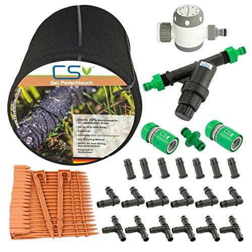 50m CS Perlschlauch Startup Z12 mit Bewässerungsuhr, Wasserfilter, Druckregulator und umfangreichem Zubehör