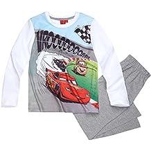Disney Cars 3 Kollektion 2017 Schlafanzug 92 98 104 110 116 122 128 Jungen Pyjama Neu Lang Lightning McQueen Weiß-Grau