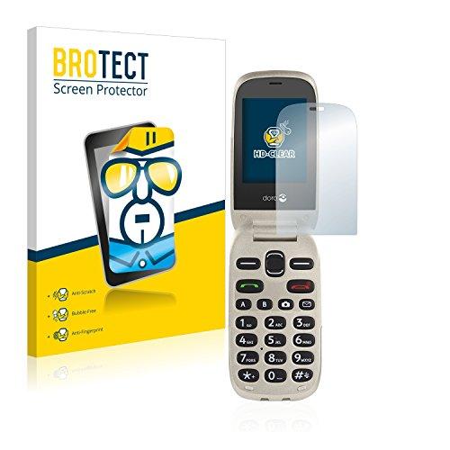 BROTECT Schutzfolie kompatibel mit Doro 6030 [2er Pack] - kristall-klare Bildschirmschutz-Folie, Anti-Fingerprint