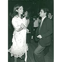 Vintage photo of The successor to the shipowner Aristoteles Onassis, Christina, at the Xenon Disco with French playboy Ludovic Autet
