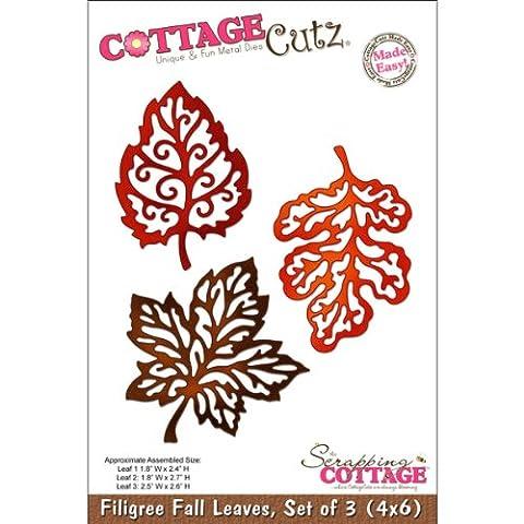 CottageCutz 6Drei filigranen Fallen Blätter sterben Schnitte
