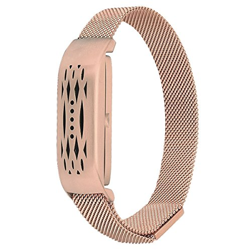 VIGOSS Fitbit Flex 2 Uhrenarmband, New Fashion Mailand Mesh Zubehör Armband Armreif für Fitbit Flex 2 (Roségold)