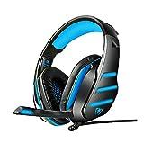 Beexcellent GM-3 Gaming Headset avec micro, PC - Surround Sound, contrôle du volume facile et éclairage LED, jeu de réduction du bruit des écouteurs, Jack 3.5MM pour téléphone intelligent, ordinateurs portables, nouvelle Xbox One, PS4. Mac, PC, Ordinateur -Black Blue