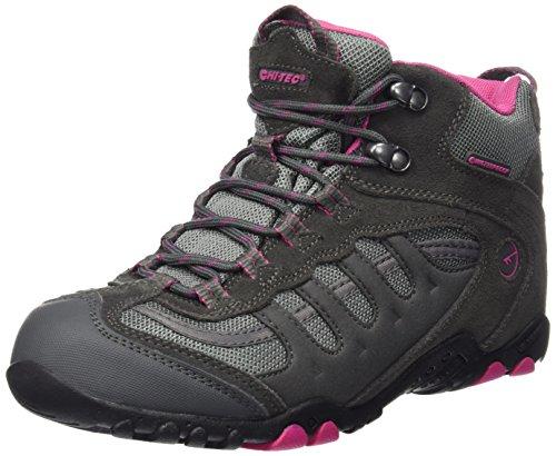 Hi-Tec Penrith Mid Waterproof, Chaussures de Randonnée Hautes Femme Gris (Charcoal/cyclamen 051)