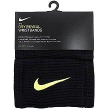 38d57a63f Nike Dri-Fit Reveal Wristbands Muñequera Unisex Adulto, (Black Volt), Talla