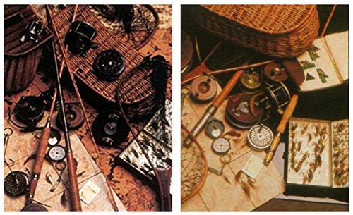 Impact Posters Gallery Old Western Kunstdruck-Poster aus Holz, Fliegenrute und Angelköder, 16 x 20 cm, 2 Stück