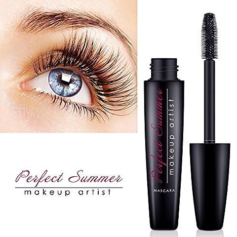 Natural Lash Waterproof Mascara Black - Perfect Summer MA-001 (2017 New Design) Eyebrow Makeup Mascara Matte Color Long Lasting Shade 12ml-Power Brush