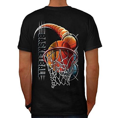 Basketball Ballon sport Chicago Homme L T-shirt le dos | Wellcoda