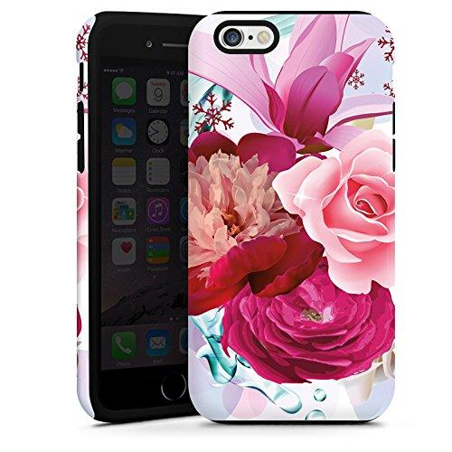 Apple iPhone 5s Housse Étui Protection Coque Fleurs Fleurs Fleurs Cas Tough terne