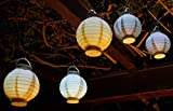 WIM-SHOP 5-STÜCK LED Party Lampion ø 15cm in 5-Pastell-Farben Wunderschön