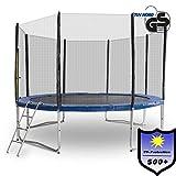 Gartentrampolin Trampolin Outdoor-Trampolin Fitness-Trampolin 305cm , inkl. Randabdeckung, Sicherheitsnetz und Leiter