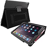 Snugg™ iPad Air (iPad 5) Case - Smart Cover with Flip Stand & Lifetime Guarantee (Black Leather) for Apple iPad Air (2013)